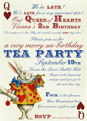 Vienna's Alice in Wonderland Tea Party Invitation copyfor blog
