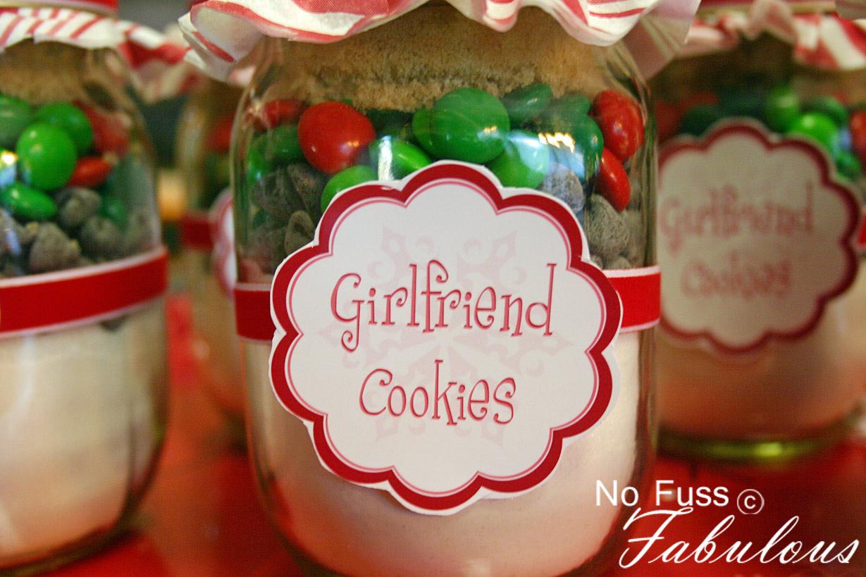 Christmas Girlfriend Cookies In A Jar