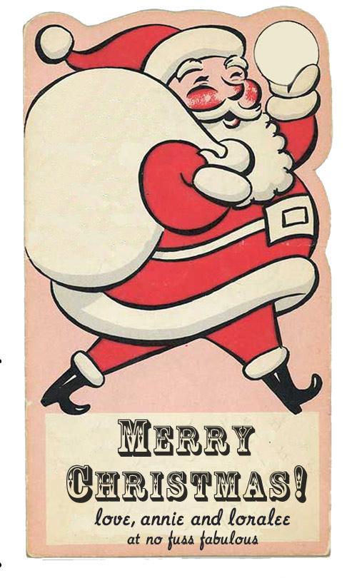 Merry Christmas Vintage Santa Tag Printable » Loralee Lewis