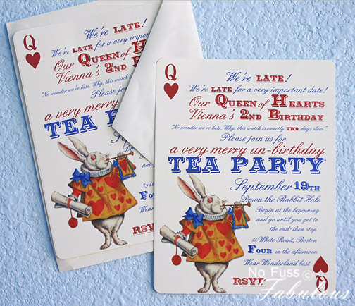Alice in Wonderland Very Merry UnBirthday Tea Party Revisited