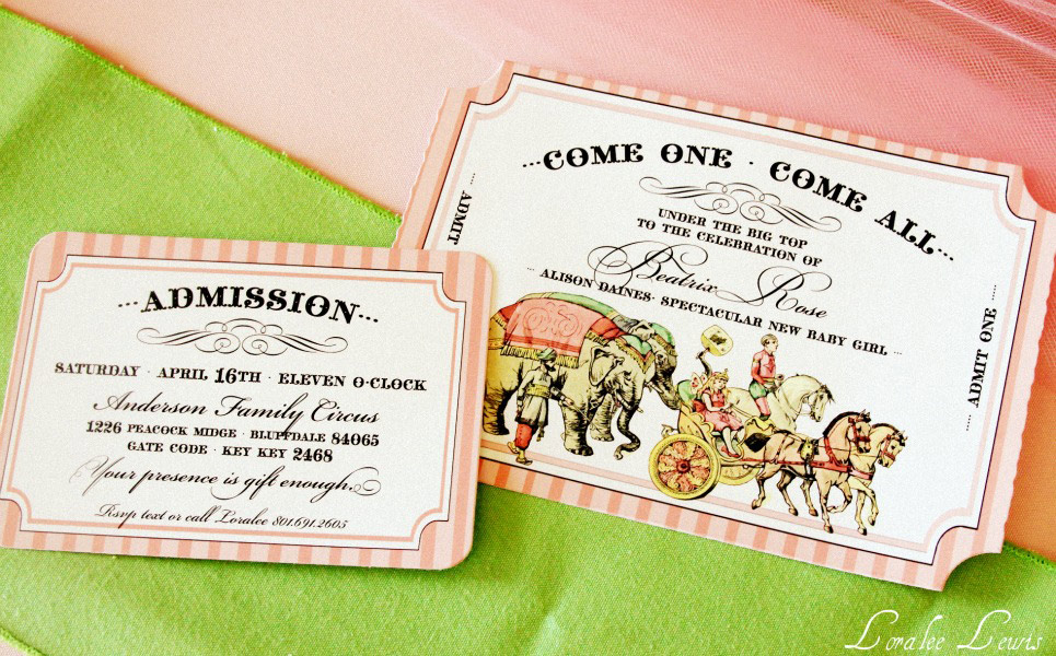 A Vintage Circus Baby Shower for my BFF – Loralee Lewis