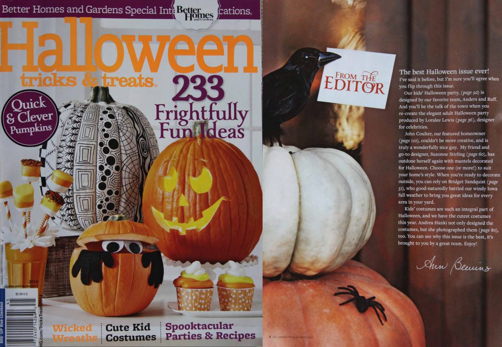 Bhg Halloween Magazine Loralee Lewis Feature & Top 10 Decorating