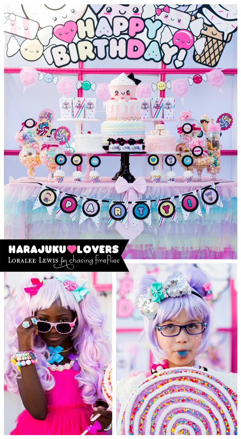 Harajuku Party Products manufactured by Loralee Lewis for Chasing Fireflies, Gwen Stefani Harajuku Lovers Party Line Products exclusively sold at Chasing Fireflies