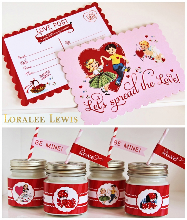 Valentine Party Goods at Loralee Lewis, www.LoraleeLewis.com
