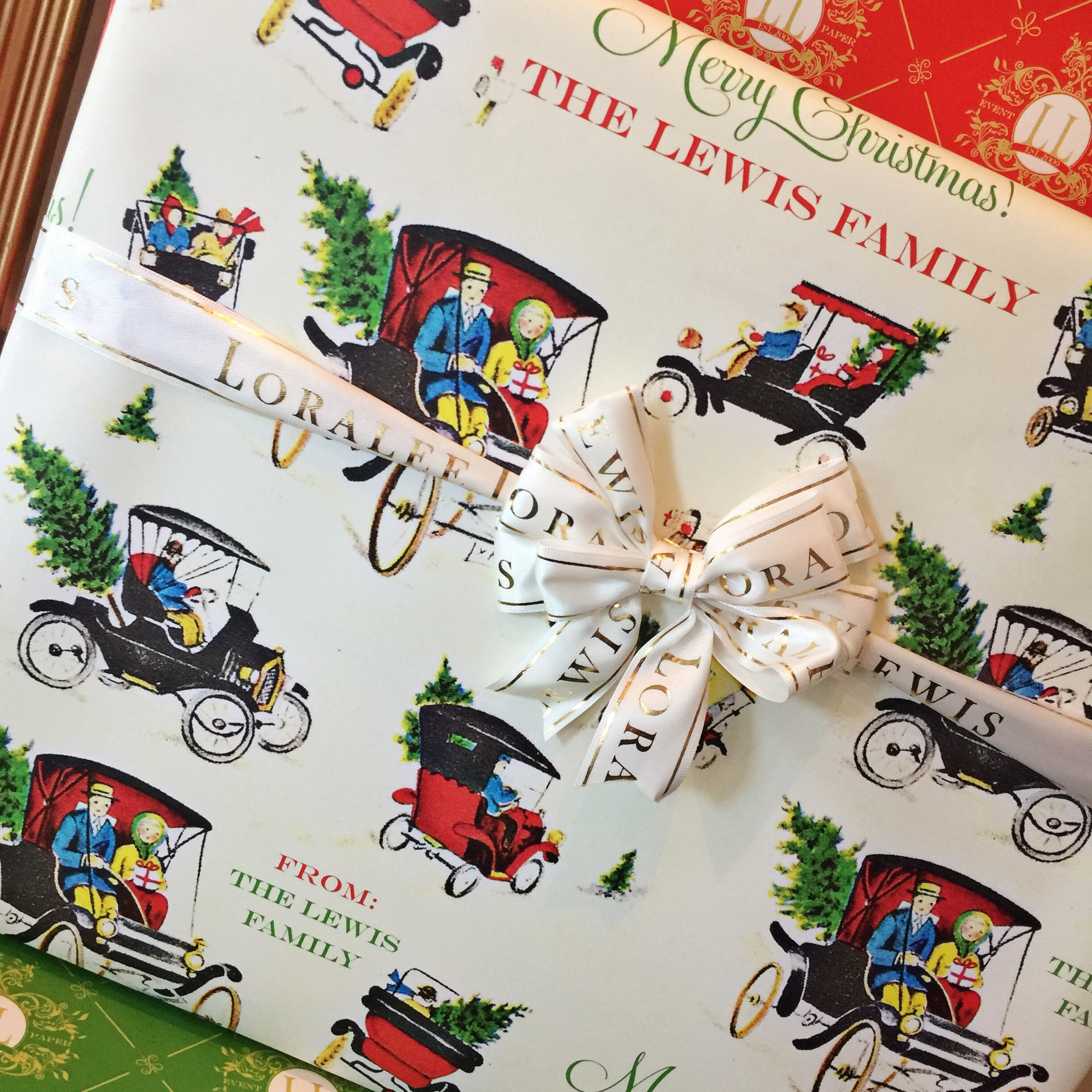 personalized christmas wrapping paper loralee lewis