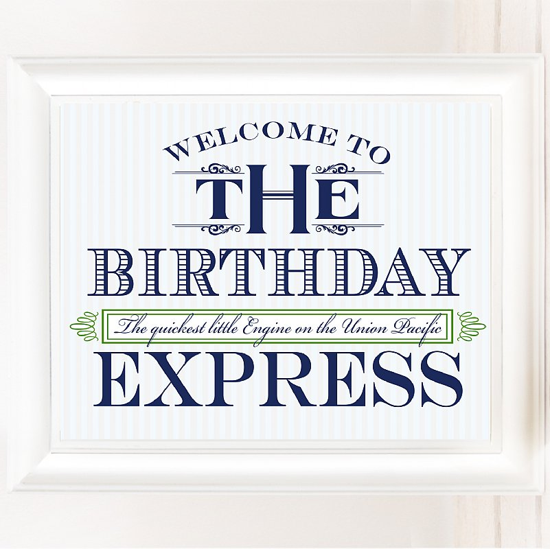 All Aboard 8x10 Birthday Express Sign