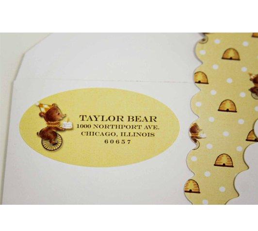 birthday bear address labels