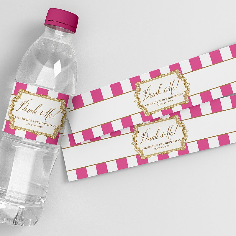 Alice In Wonderland Water: Alice In Wonderland Water Bottle Labels