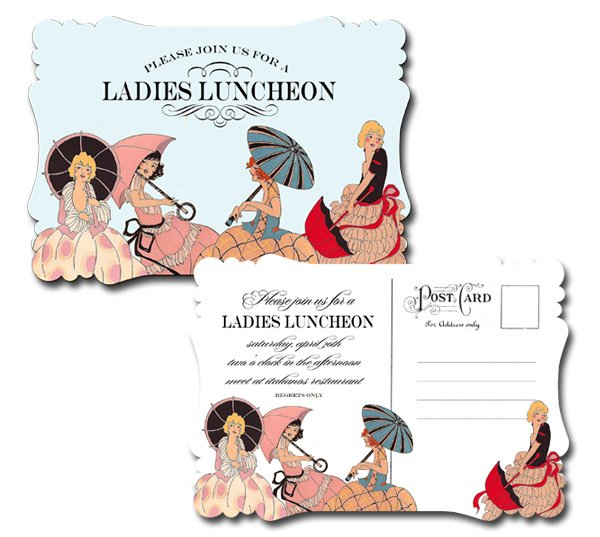 fancy ladies lunch invitation