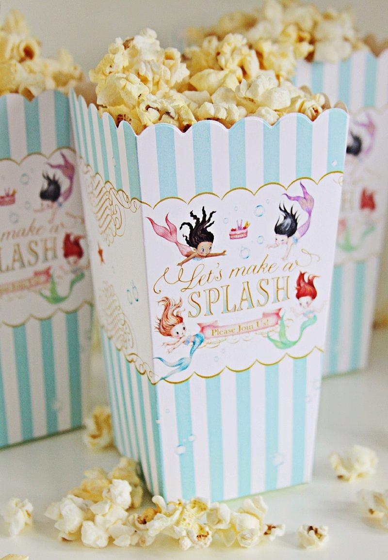 Mermaid Popcorn boxes