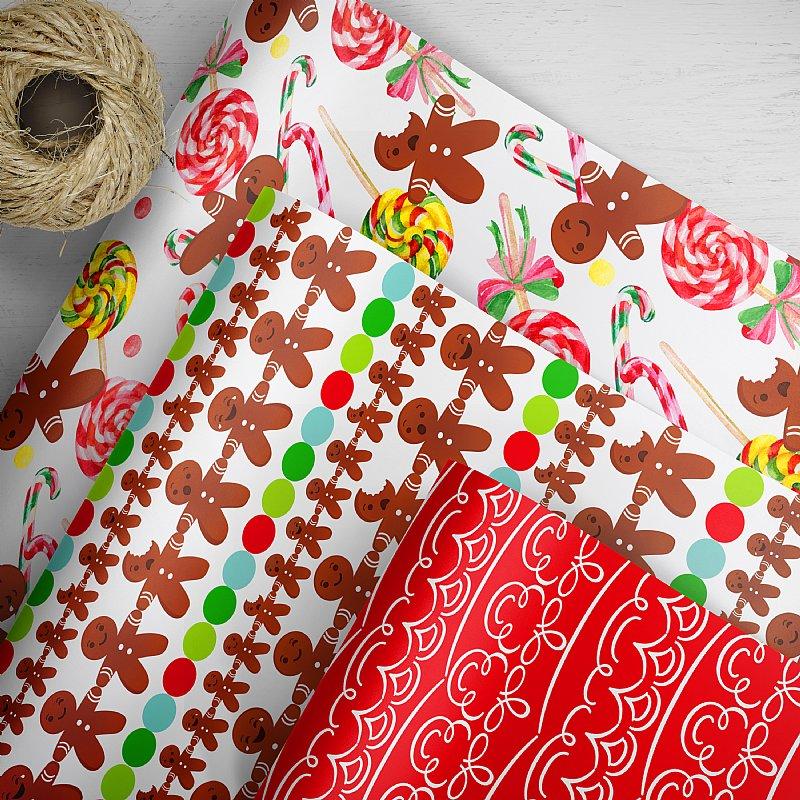Christmas Gift Wrap Design.Oh Goodie Christmas Gift Wrap
